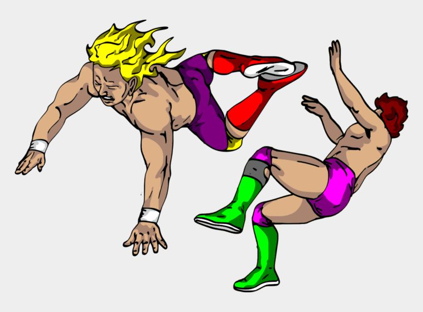 girls wrestling clipart, Cartoons - Wrestlers Clipart Transparent Background - Pro Wrestling Clip Art