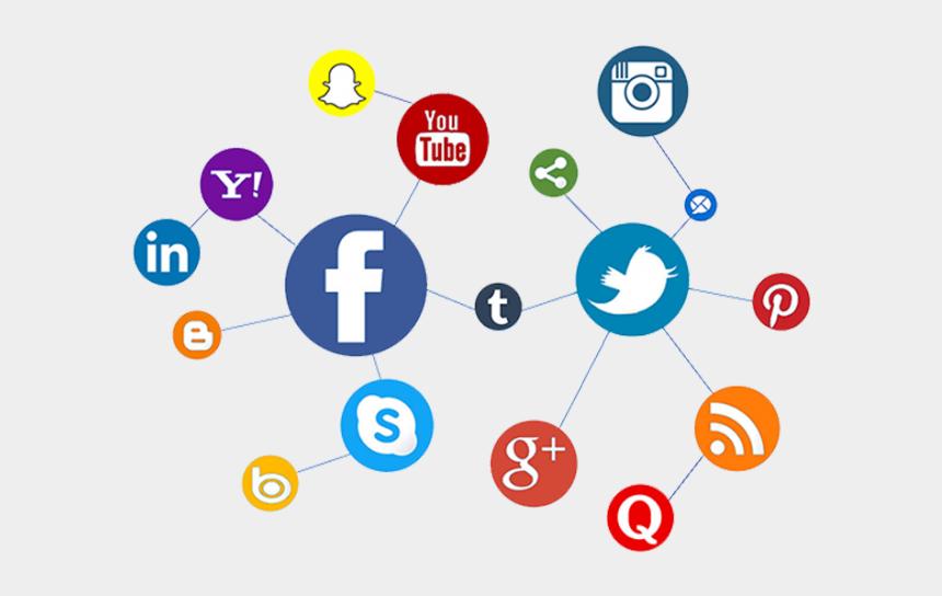 communication clipart images, Cartoons - Online Marketing Clipart Customer Communication - Top Social Media Platforms 2019