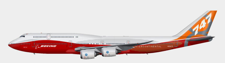 red plane clipart, Cartoons - Plane Png Image - Boeing 747 8 Png
