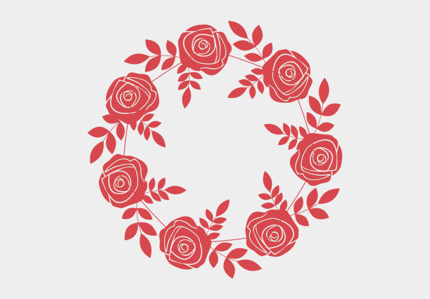round flower clipart, Cartoons - Flower Rose Photography Royalty Free Frame Round Stock - กรอบ ดอกไม้ วงกลม สี แดง