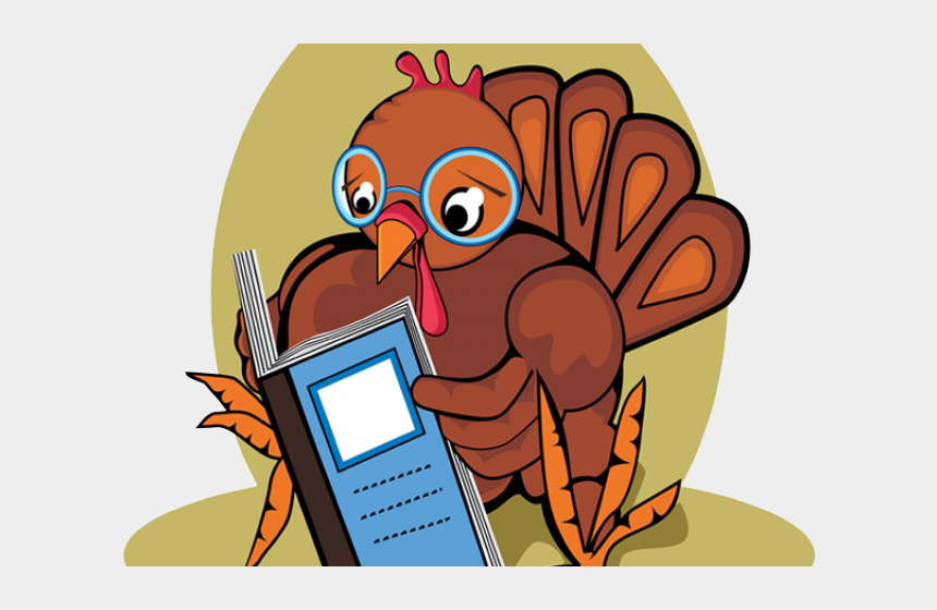 thanksgiving pictures clipart, Cartoons - Thanksgiving Clipart Reading - Turkey Reading A Book