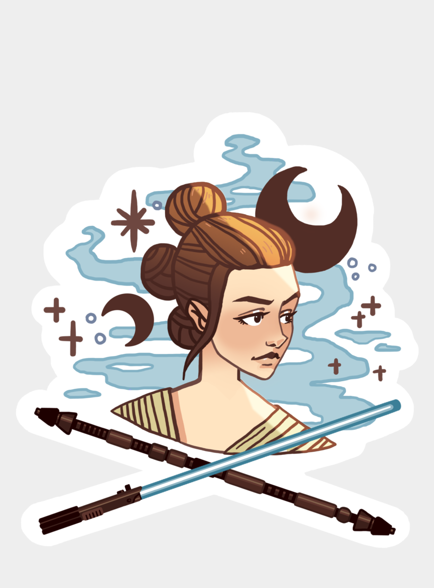 may the force be with you clipart, Cartoons - Star Wars Rey - Starwars Rey Clipart