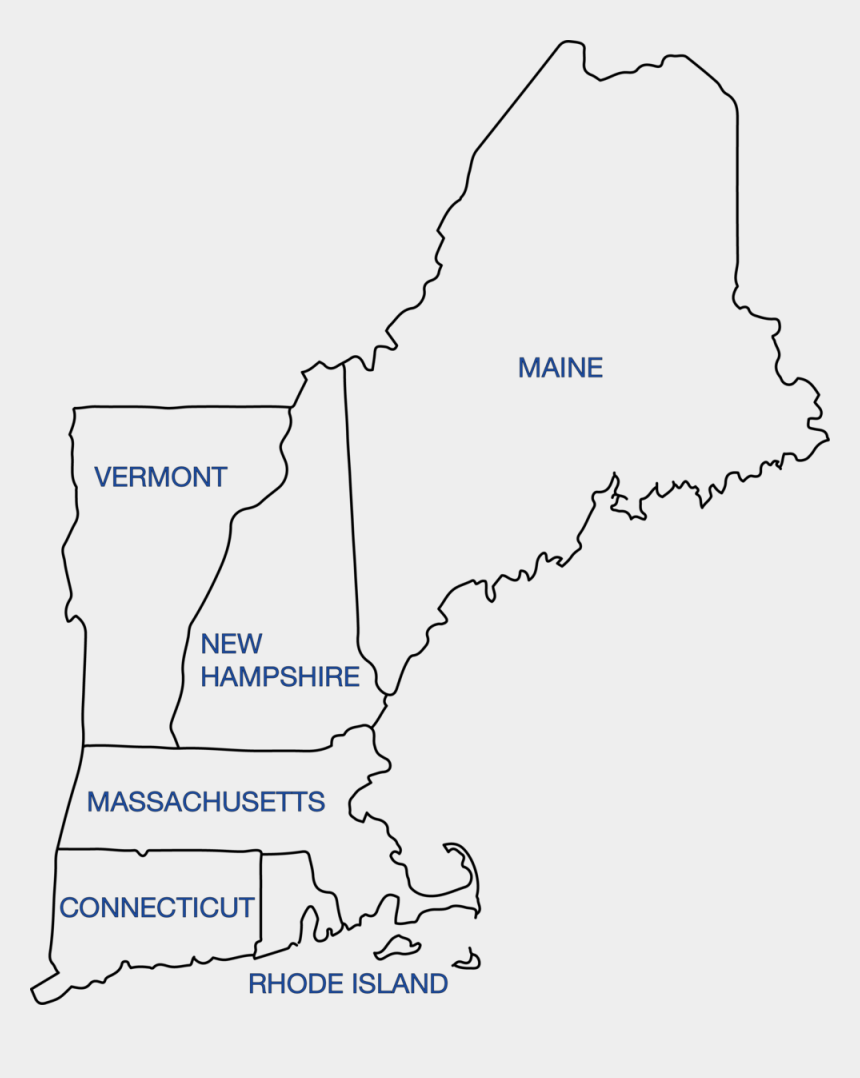 new england clipart, Cartoons - New England Png - New England Colonies Outline