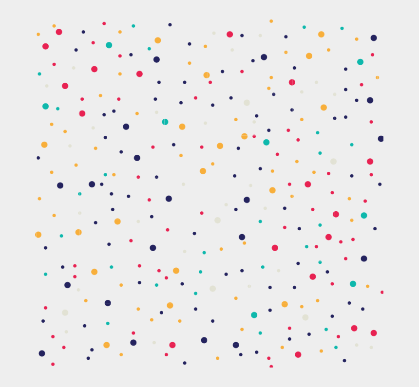 polka dot number 1 clipart, Cartoons - Colorful Polka Dots Png