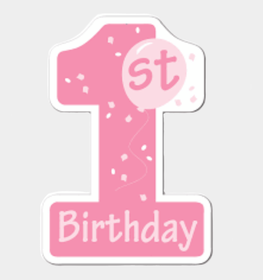 polka dot number 1 clipart, Cartoons - #number1 #numero1 #numbers #numero #pink #rosa #01 - 1st Birthday Clipart