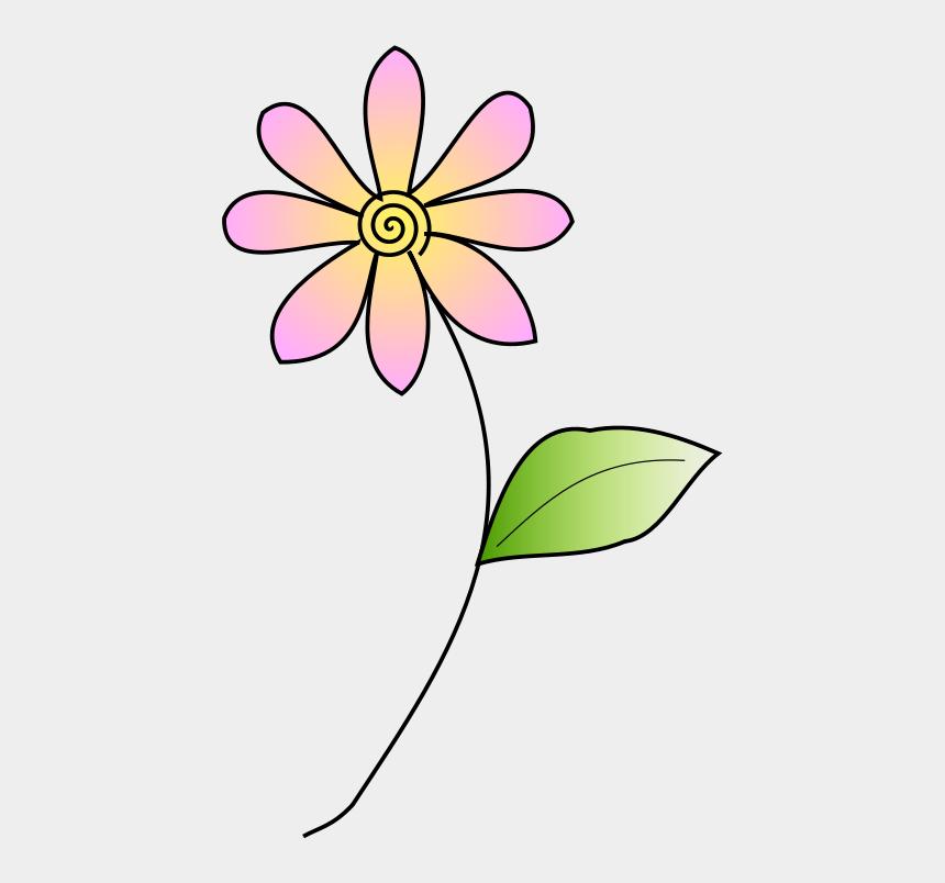 pink flower with stem clipart, Cartoons - Floral Design Cut Flowers Petal Plant Stem - Clip Art