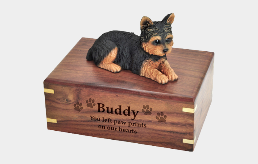 yorkshire terrier clipart, Cartoons - Pet Dog Cremation Wood Urn Yorkshire Terrier Puppycut - Dog Urn Chihuahua