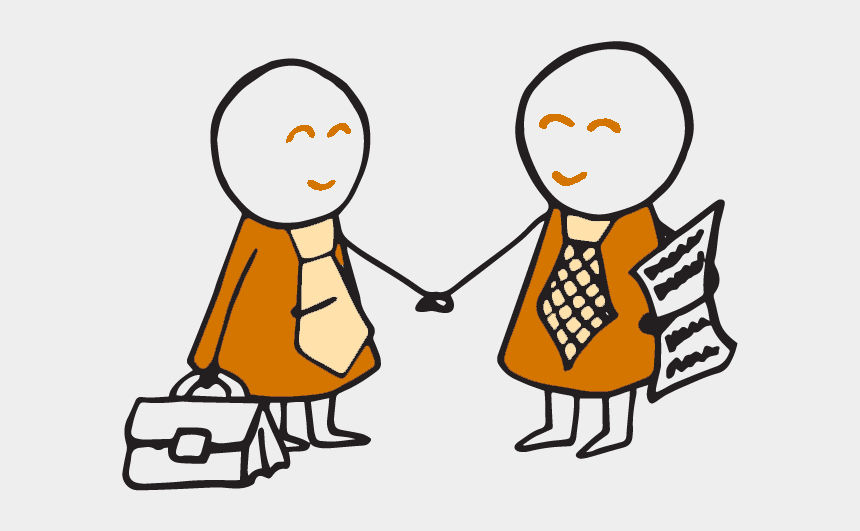 friendly people shaking hands clipart, Cartoons - Two Business People Shaking Hands - Businessperson