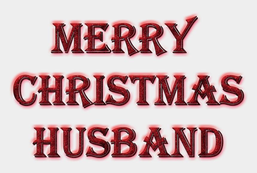 christmas words clipart, Cartoons - Merry Christmas Husband Word Art In Glitter