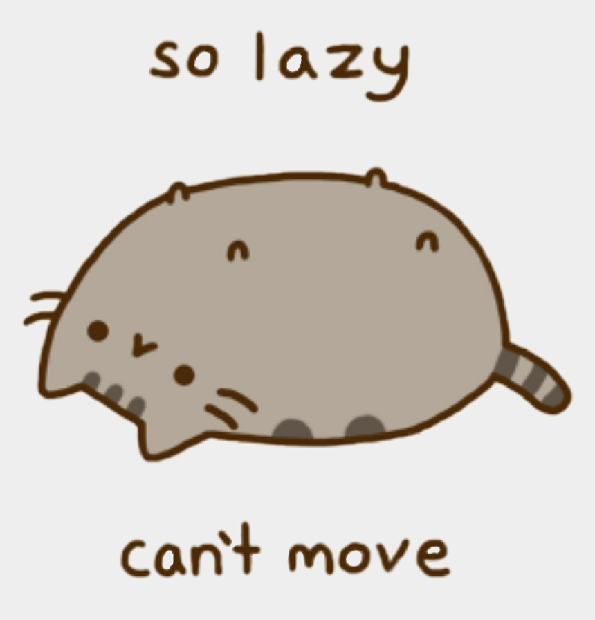 lazy cat clipart, Cartoons - Pusheen Sticker - Pusheen Cat Gif