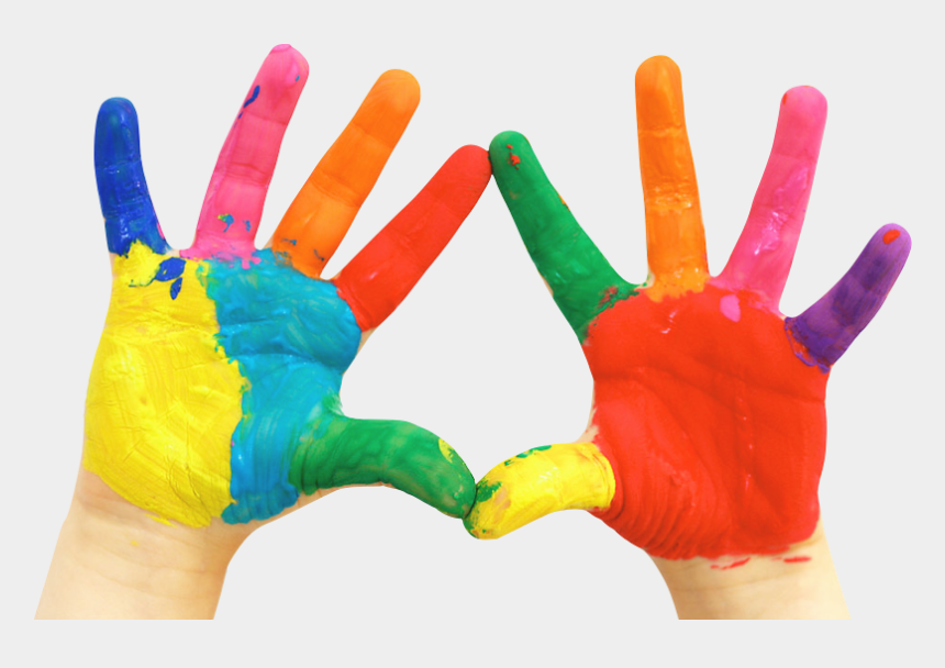 children painting clipart, Cartoons - Paint Hand Painting Fingerpaint Child Free Png Hq - Hands Covered In Paint