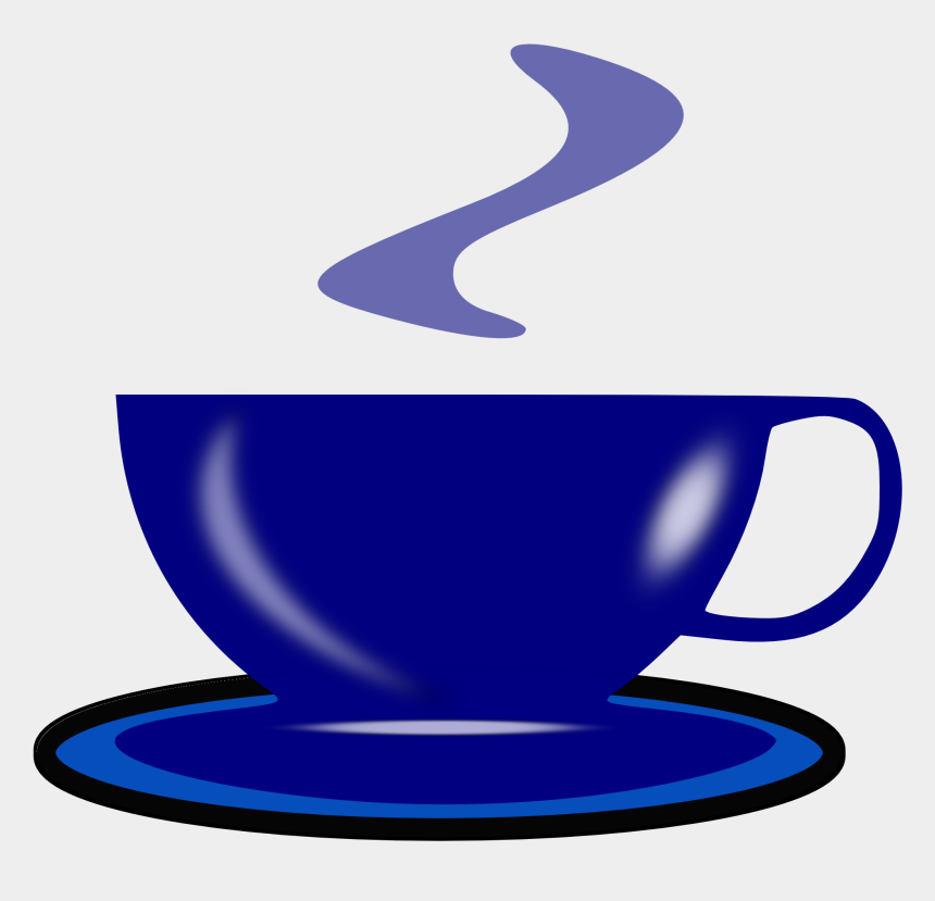 drinking tea clipart, Cartoons - Drawing Of Blue Tea With Drink Free - Green Coffee Cup Drawing
