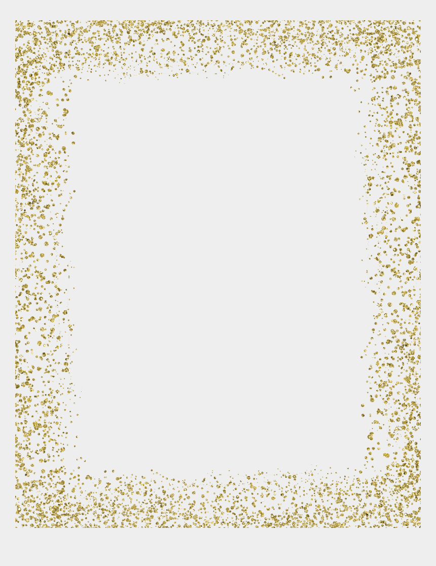 gold sparkles clipart, Cartoons - Ftestickers Sticker By Pennyann Report Abuse - Transparent Background Glitter Frame