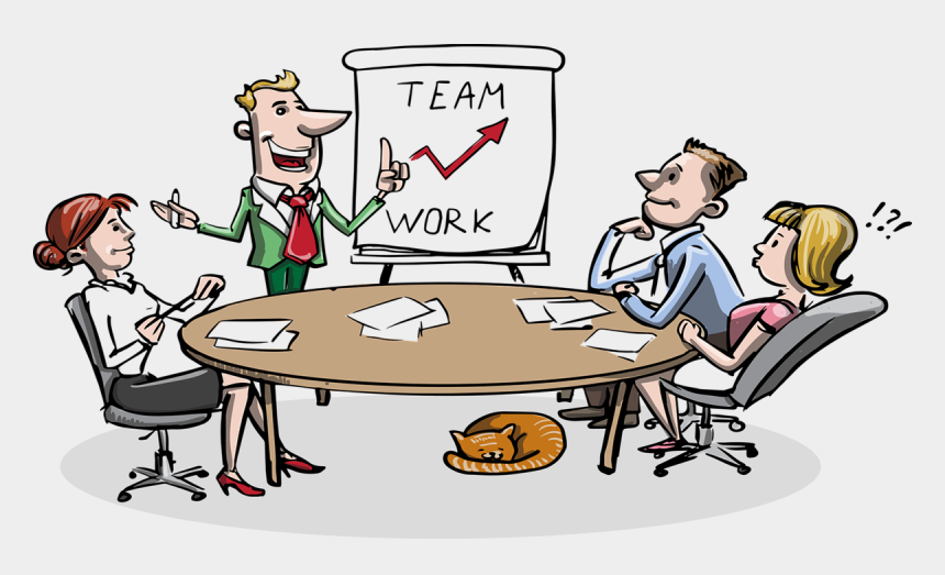 meeting new people clipart, Cartoons - An Illustration Of A Team Meeting - Meetings At Work Cartoon