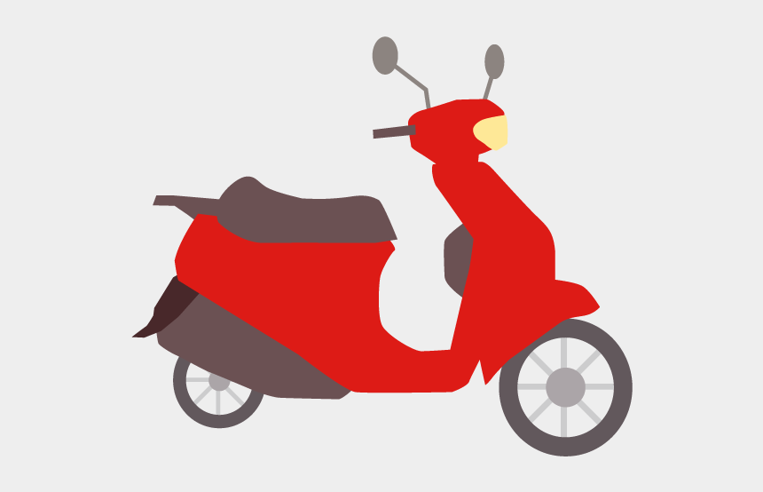 moped clipart, Cartoons - View All Images-1 - オートバイ イラスト 素材 フリー