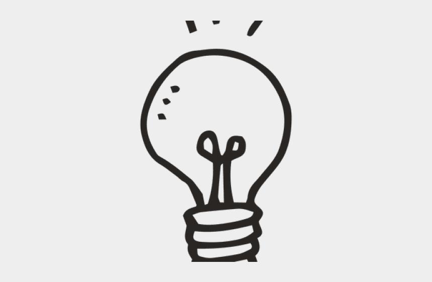 light bulb clipart no background, Cartoons - Drawn Light Bulb Transparent Background - Idea Lightbulb No Background