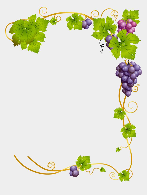 grapevine border clipart, Cartoons - Free Grapevine Borders Clip Art - Vine Grapes Png