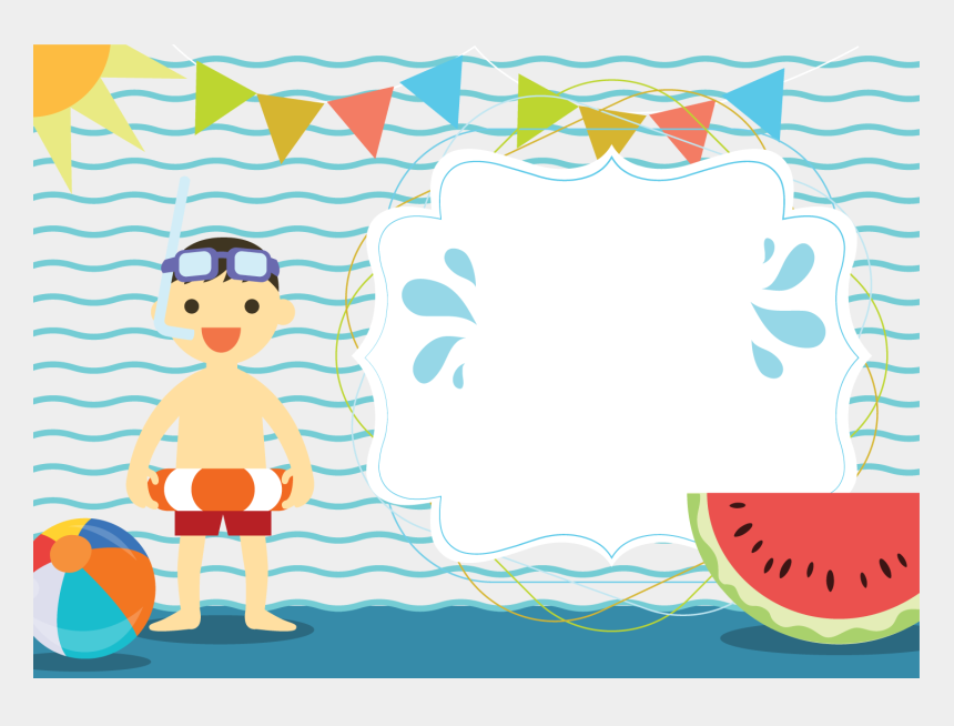 swimming pools clipart, Cartoons - Summer Clipart Swimming Pool - Invitation For Wedding Pool Party