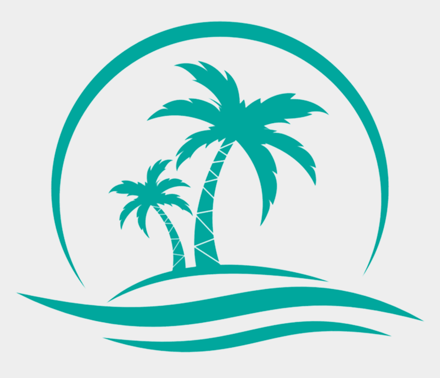 palm trees sunset clipart, Cartoons - Isla Mujeres Vacation Rental - Coconut Tree Water Vector