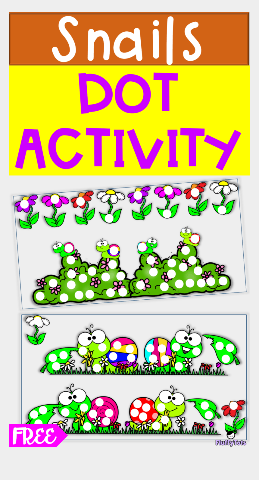 pre k clipart free, Cartoons - Spring Snails Dot Activity - Cartoon