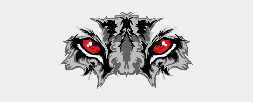 tiger eye clipart, Cartoons - Printed Vinyl Black Tiger With Red Eyes Ⓒ - Tiger Eyes Vector