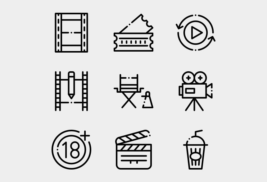 movie clapper clipart, Cartoons - Film Industry - Web Design Line Icon