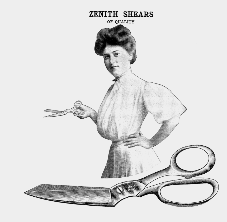 vintage shears clipart, Cartoons - This Is A Vintage Advertisement For Zenith Shears - Sketch