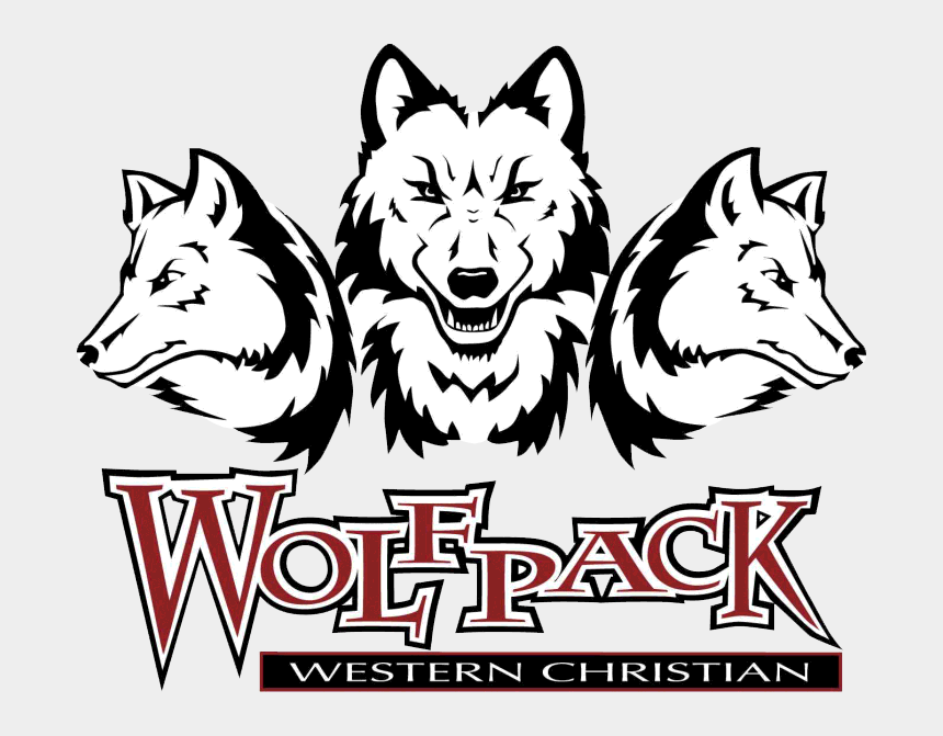 wolf pack clipart, Cartoons - Western Christian High School Logo