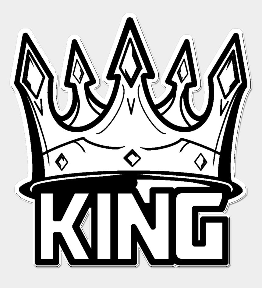 king crown clipart black and white, Cartoons - #mq #white #black #king #crown - Thug Life Crown Sticker