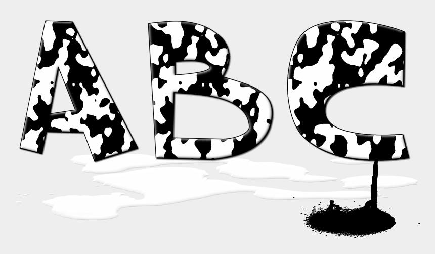alphabet clipart letters black and white, Cartoons - And - Fonte De Letras Vaca
