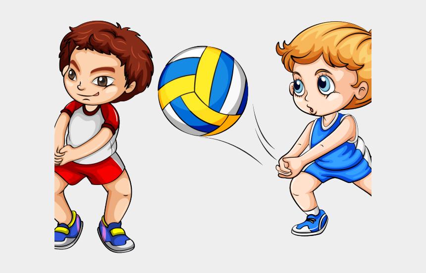 children playing ball clipart, Cartoons - Volleyball Clipart Child - Play Volleyball Clipart
