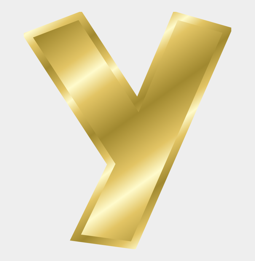 letter dd clipart, Cartoons - Gold Alphabet Letters Y