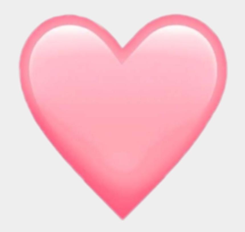 light pink heart clipart, Cartoons - @fakesmileari - Light Pink Heart Emoji