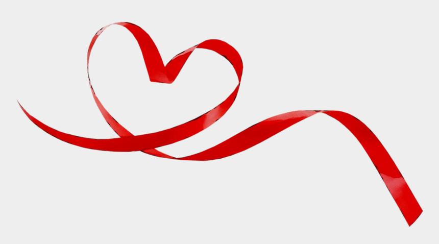 heart ribbon clipart, Cartoons - Heart Portable Red Graphics Ribbon Network Clipart - Heart Ribbon Png Free