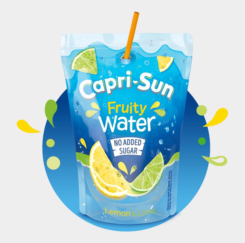 juice pouch clipart, Cartoons - 19118-cs Website Hover Fruitywater Lemonlime Splash - Capri Sun Fruity Water
