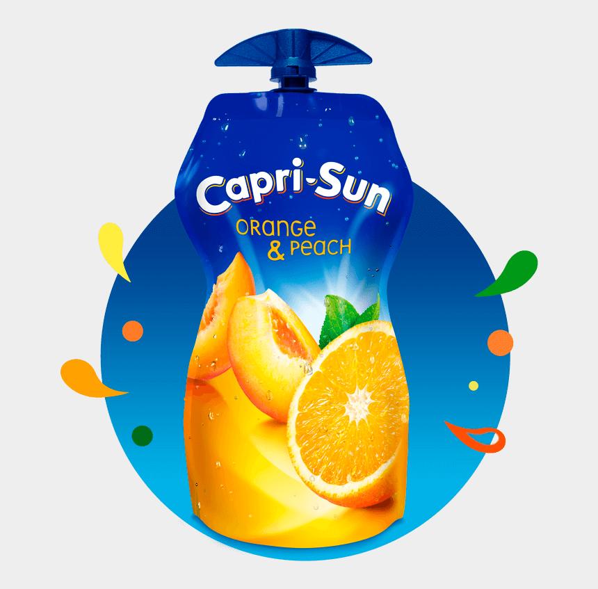 juice pouch clipart, Cartoons - Capri Sun Orange And Peach