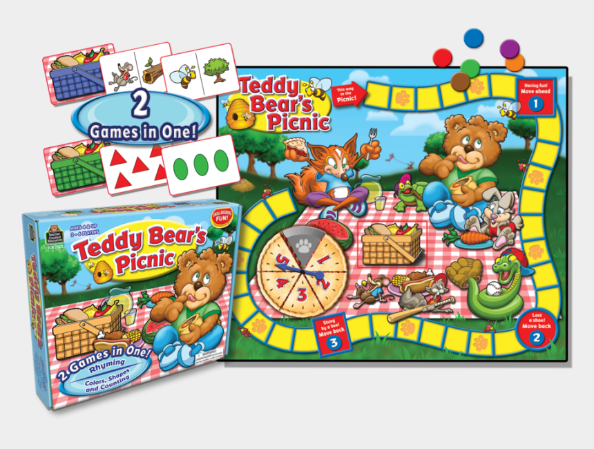 teddy bears picnic clipart, Cartoons - Tcr7802 Teddy Bear's Picnic Game Image - Teddy Bears Picnic Board Game