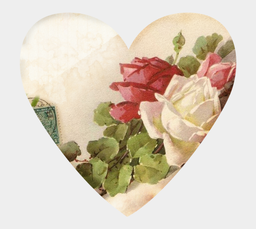 vintage hearts clipart, Cartoons - Фотки Heart Never, Old Paper, Decoupage Paper, Heart - Thank You Rose Heart