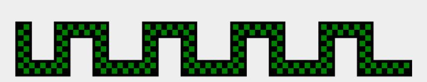 checkered border clipart, Cartoons - Border Green Checkered Design - Green And Black Checkers