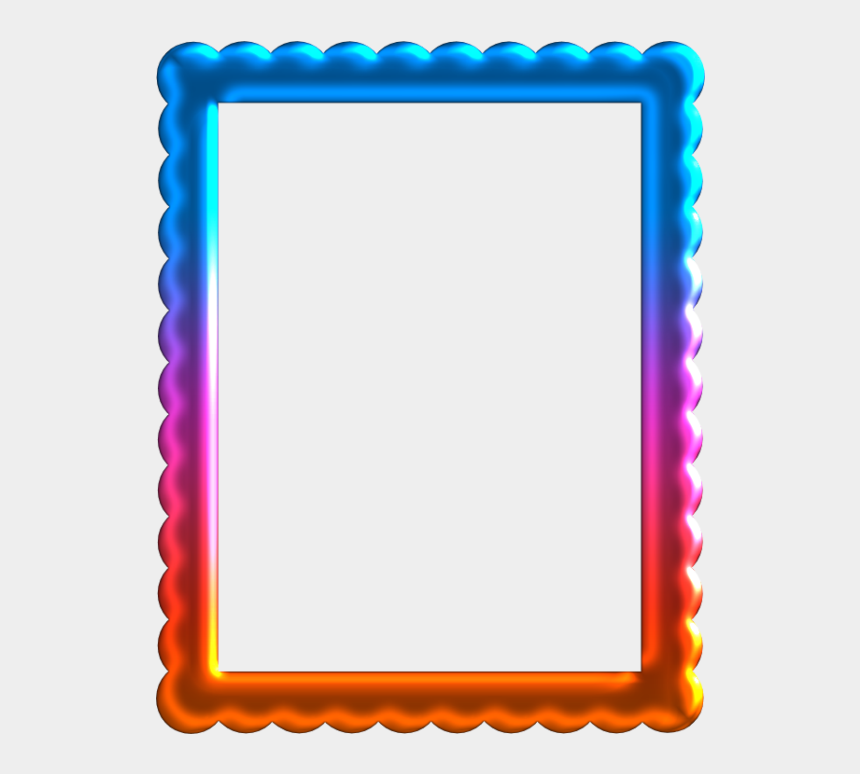 graphic relating to Free Printable Borders and Frames Clip Art named Absolutely free Printable Frames And Labels With Wavy Border - Consider