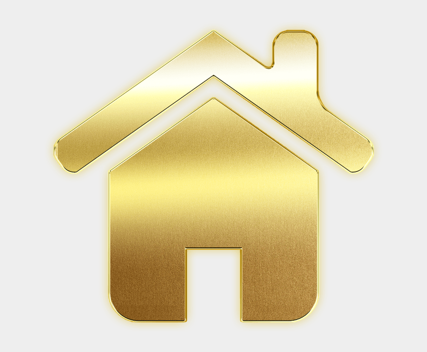 start button clipart, Cartoons - Icon, House, Home, Button, Logo, Gold - Gold Home Icon Png