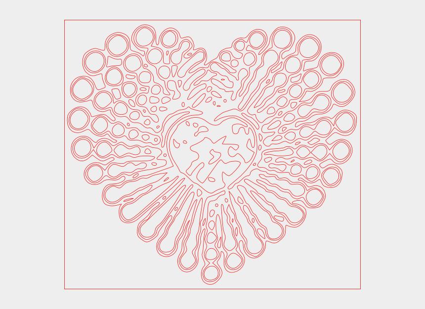decorative heart clipart, Cartoons - Doodle
