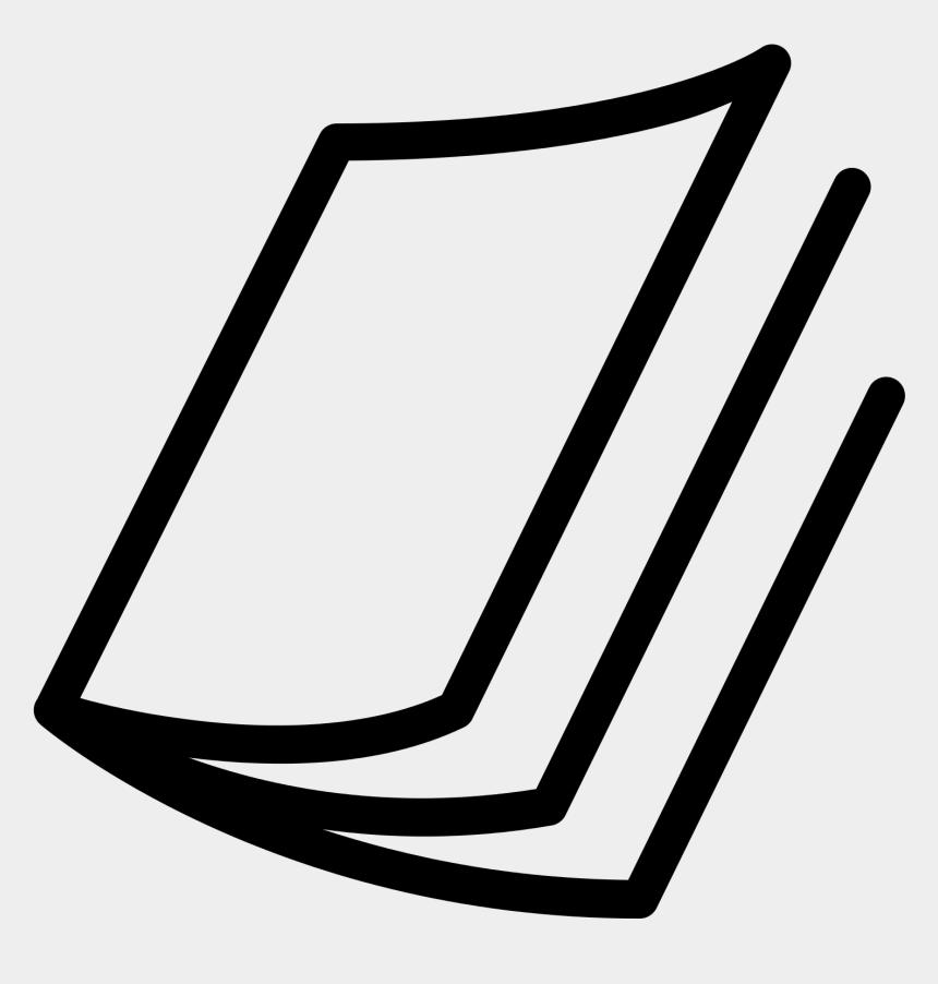 magazine clipart, Cartoons - Craft Supplies Clip Art - Magazine Black And White Icon