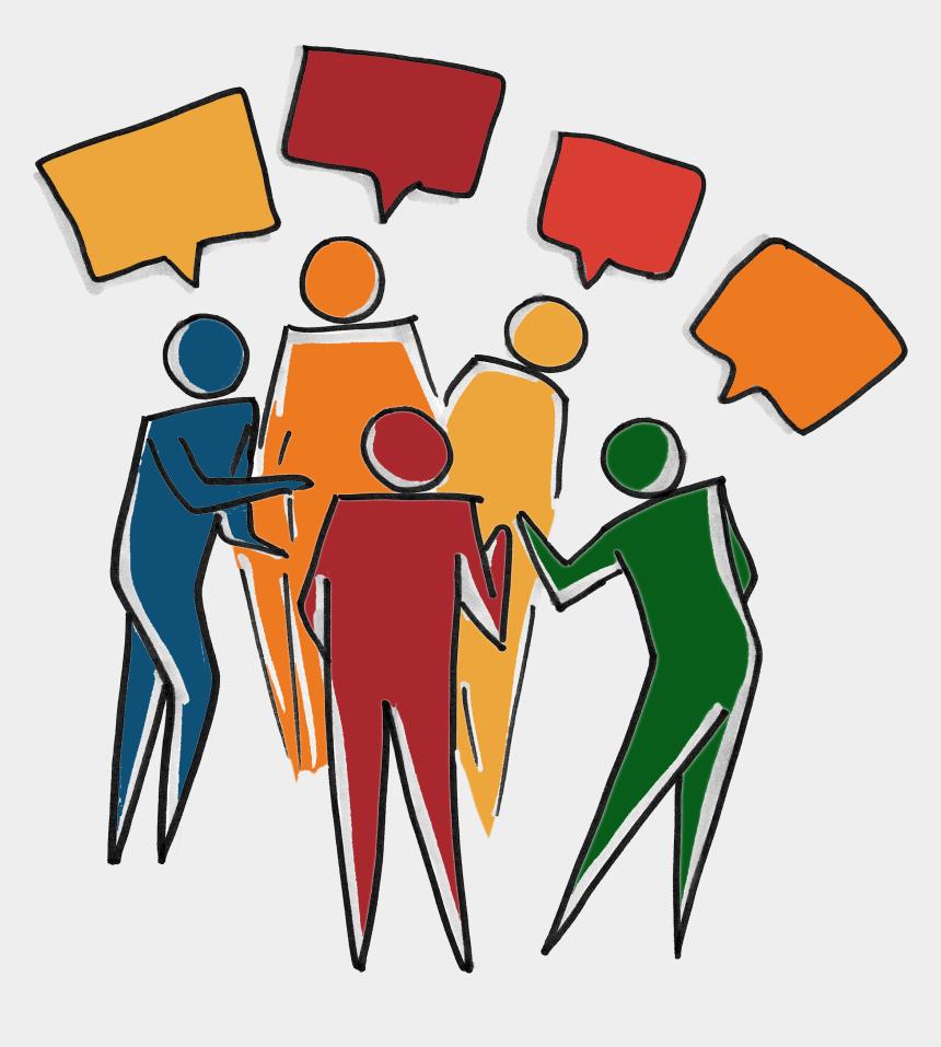 conversation clipart, Cartoons - Inclusive Diverse Team - People Talking Clipart Transparent