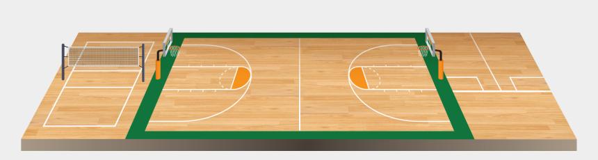 court clipart, Cartoons - Sports Flooring Surfaces - Basketball Court