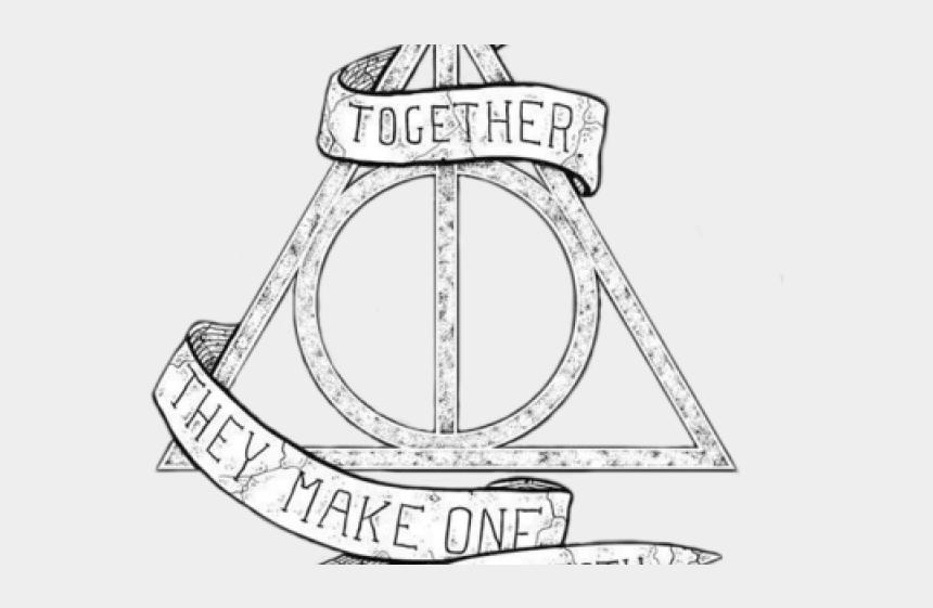 Harry Potter Clipart Line Drawing Dessin Des Reliques De La Mort