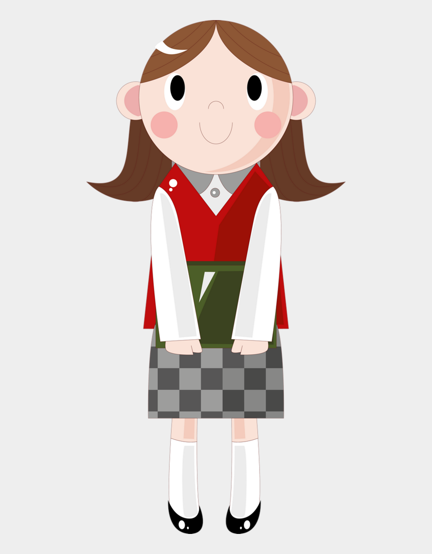 going to school clipart, Cartoons - Back To School Clipart Png - Girl Student Cartoon Png
