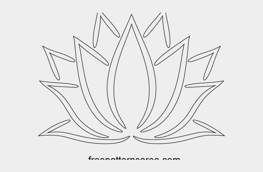 lotus clipart, Cartoons - Lotus Clipart Lotus Outline - Line Art