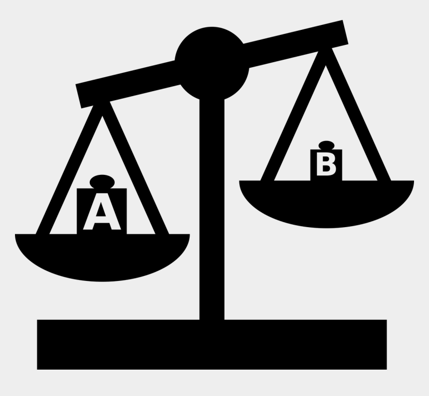 weight clipart, Cartoons - Scale Balance Weight - Social Inequality Symbol