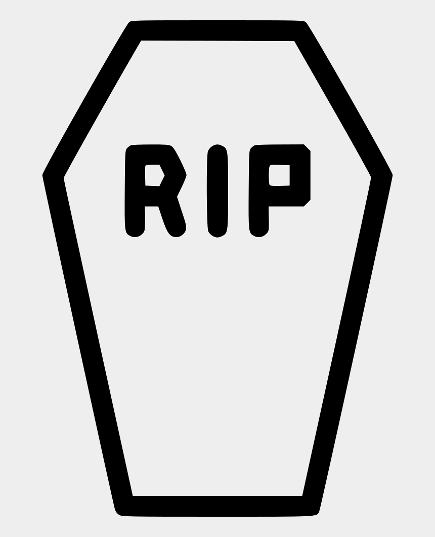 coffin clipart, Cartoons - Coffin Casket Rip Death Funeral Comments Clipart , - Sign
